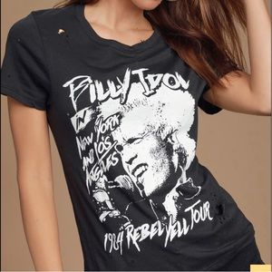 Prince Peter collection billy idol distressed graphic tee shirt S